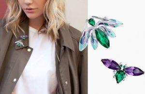 Как и с чем можно носить броши - модные тенденции зимы