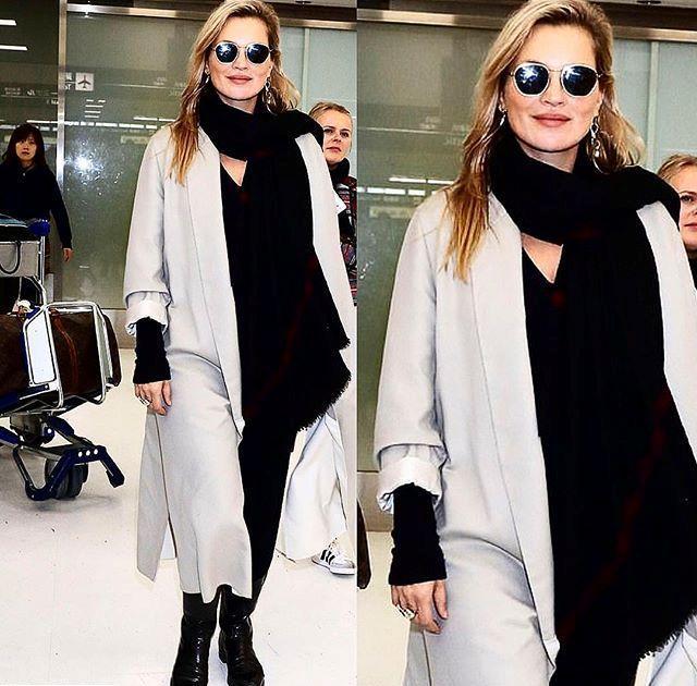 Кейт Мосс аэропорту