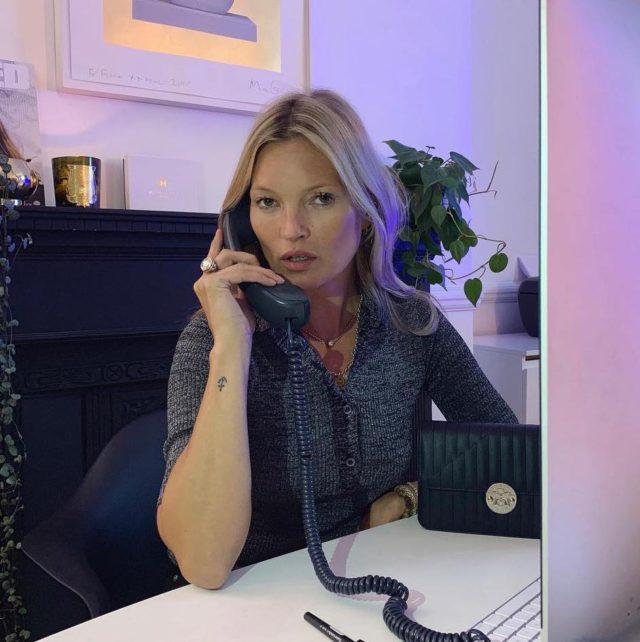 Кейт Мосс в офисе