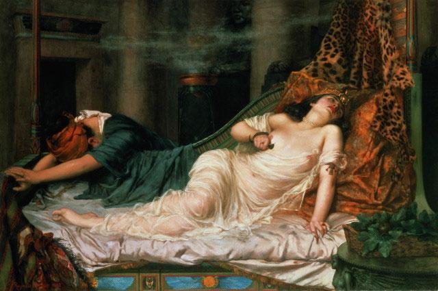 «Смерть Клеопатры», картина Реджинальда Артура, 1892