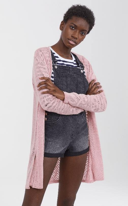 Розовый кардиган из H&M