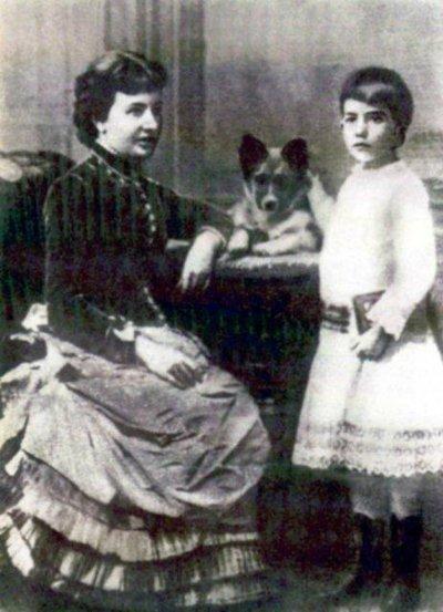Софья Ковалевская с дочерью