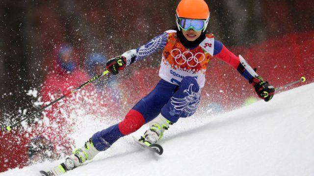 Ванесса Мэй на лыжах