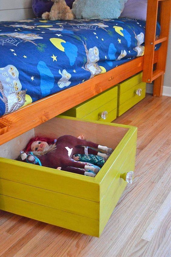 Ящики из Икеа для хранения игрушек в детской