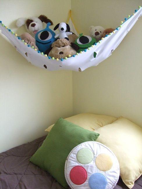Гамак для хранения мягких игрушек в детской
