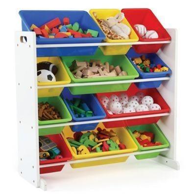 Стеллаж для игрушек в детской комнате