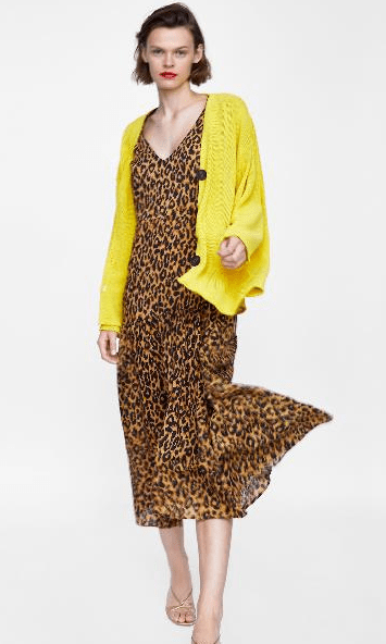 Желтый кардиган из Zara