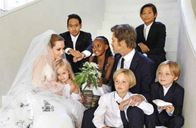 Брэд Питт Анджелина Джоли свадьба