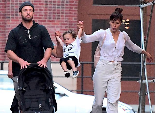 Джастин Тимберлейк с семьей