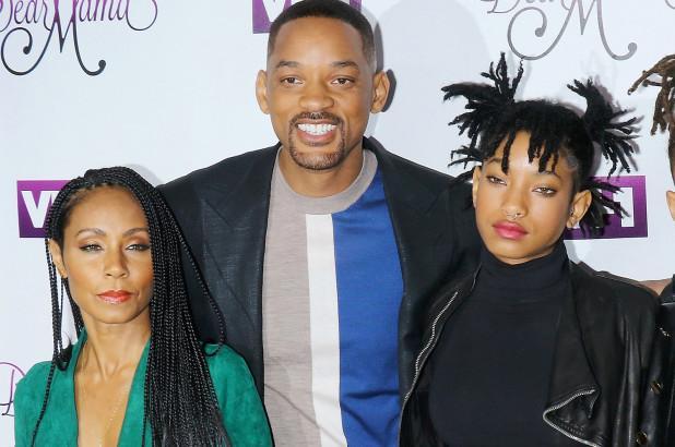 Уилл Смит с женой и дочерью