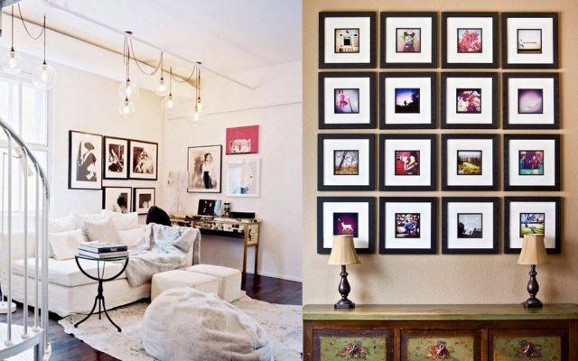 Украсить стены фотографиями