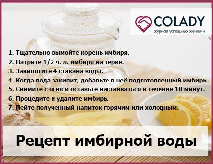 Классический рецепт имбирной воды