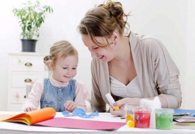Занятия творчества с ребенком