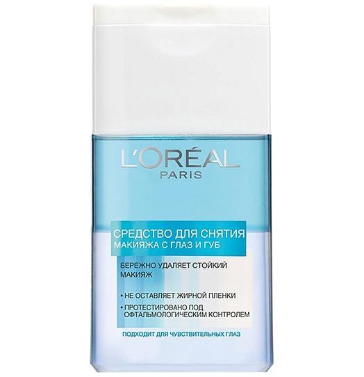Двухфазное средство L'Oreal для снятия макияжа с глаз и губ