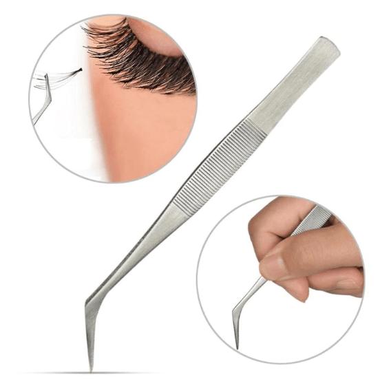 Изогнутый пинцет для наращивания ресниц