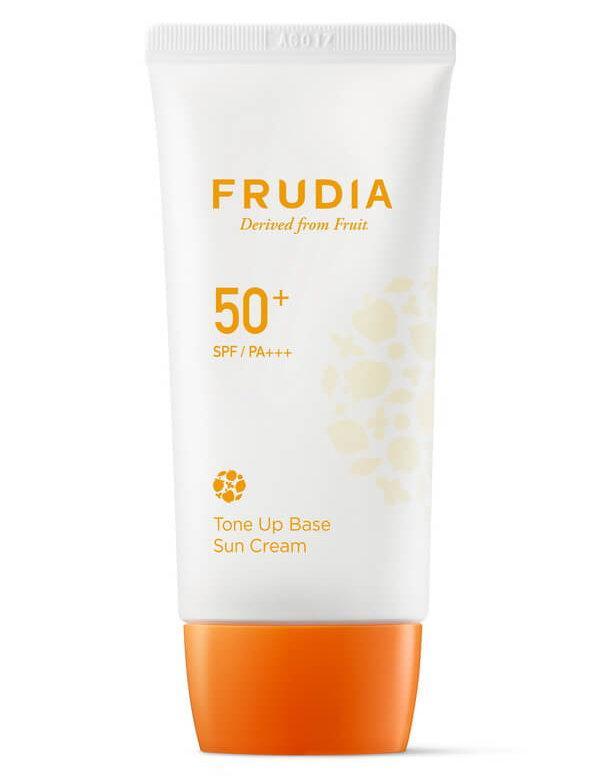 Солнцезащитная тональная крем-основа для сияния кожи SPF50+, Frudia