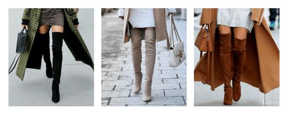 Длинные сапоги на каблуках