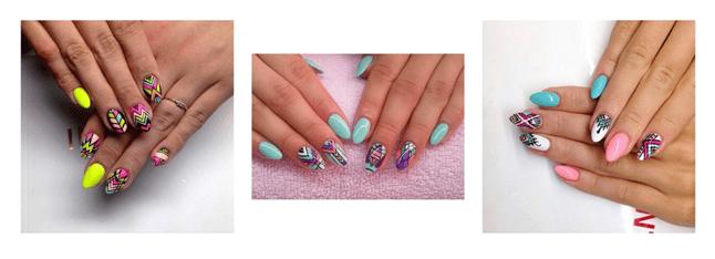 Индийские мотивы на ногтях