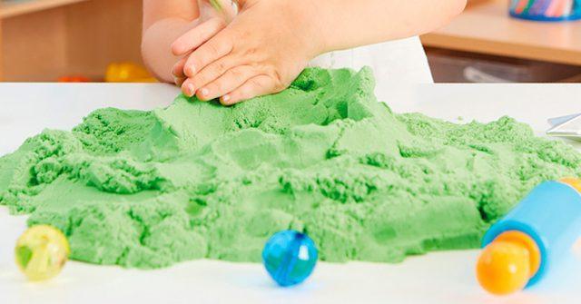 Домашний кинетический песок - как сделать самостоятельно
