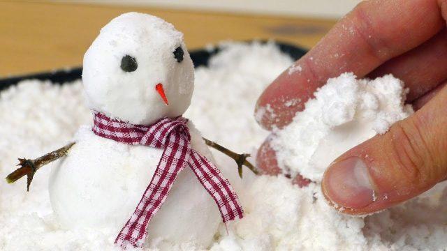 Искусственный снег для лепки и поделок