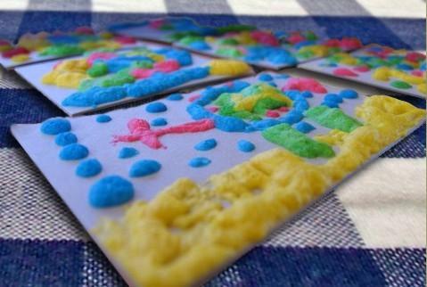 Солевые пухлые краски для детей своими руками