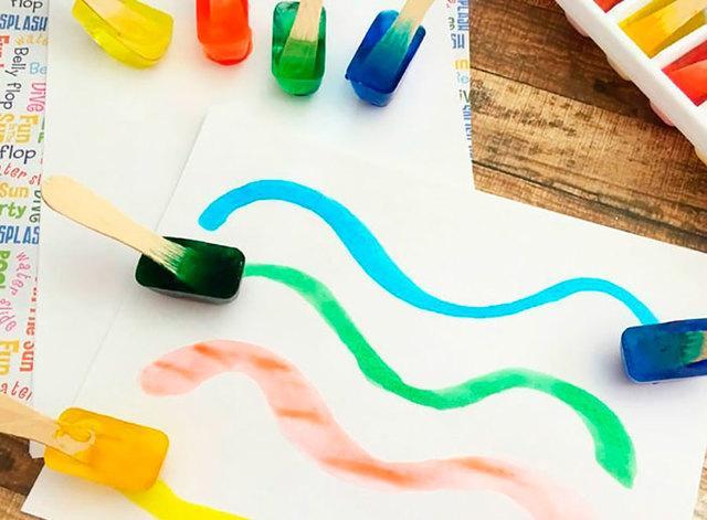 Рисование льдом для детей в домашних условиях