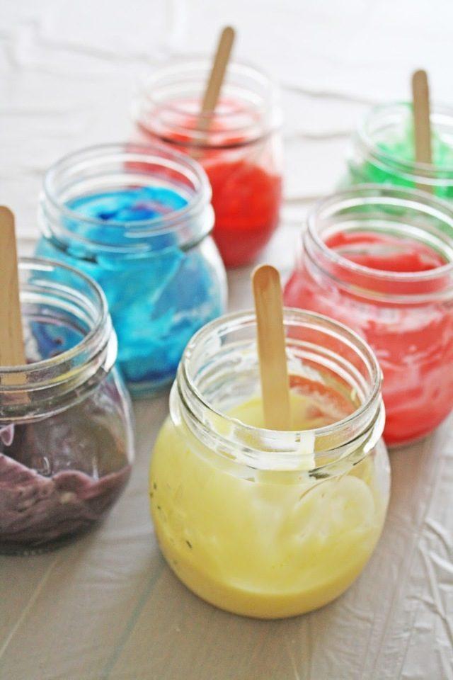 Пальчиковые краски своими руками в домашних условиях