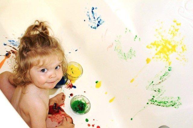 Краски для купания в ванне - своими руками