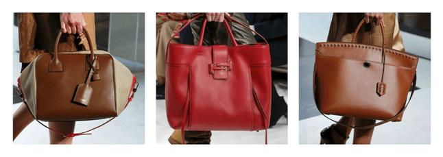 Массивные сумки из натуральной кожи