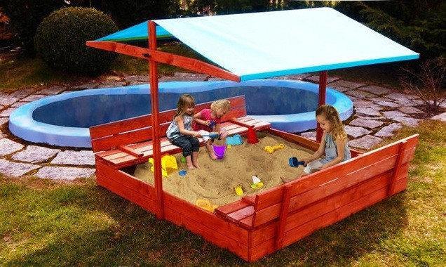 Детскую песочницу очень важно правильно установить