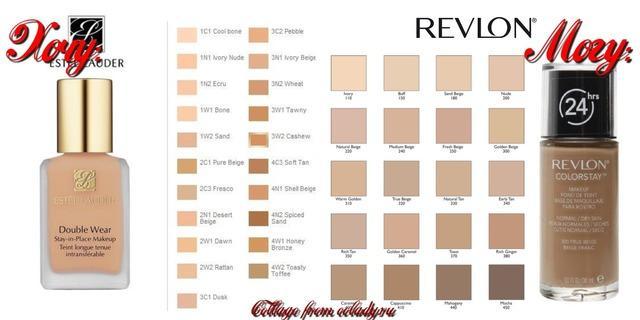 Тональный крем Estee Lauder Double Wear = Revlon ColorStay Foundation For Combination/Oily Skin