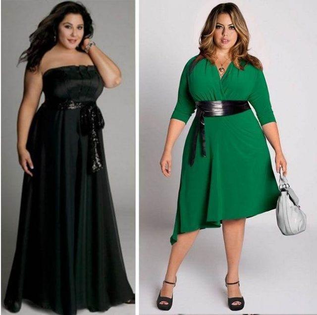 Длина платьев для полных
