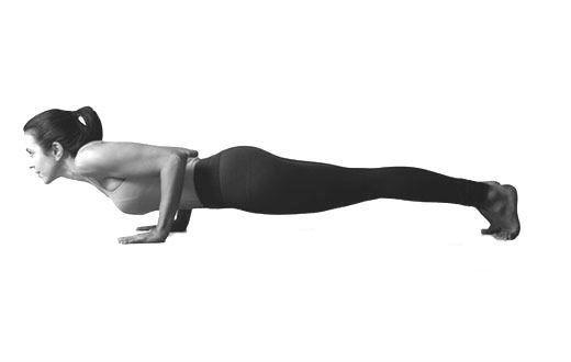 Упражнение планка Чатуранга Дандасана