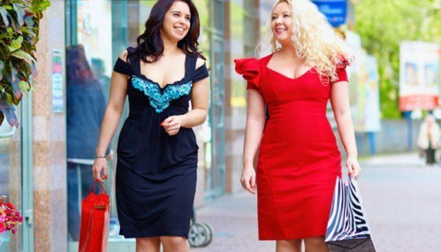 Как выбрать платье полной женщине