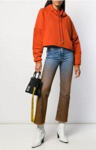 Прямые джинсы с эффектом деграде OFF-WHITE