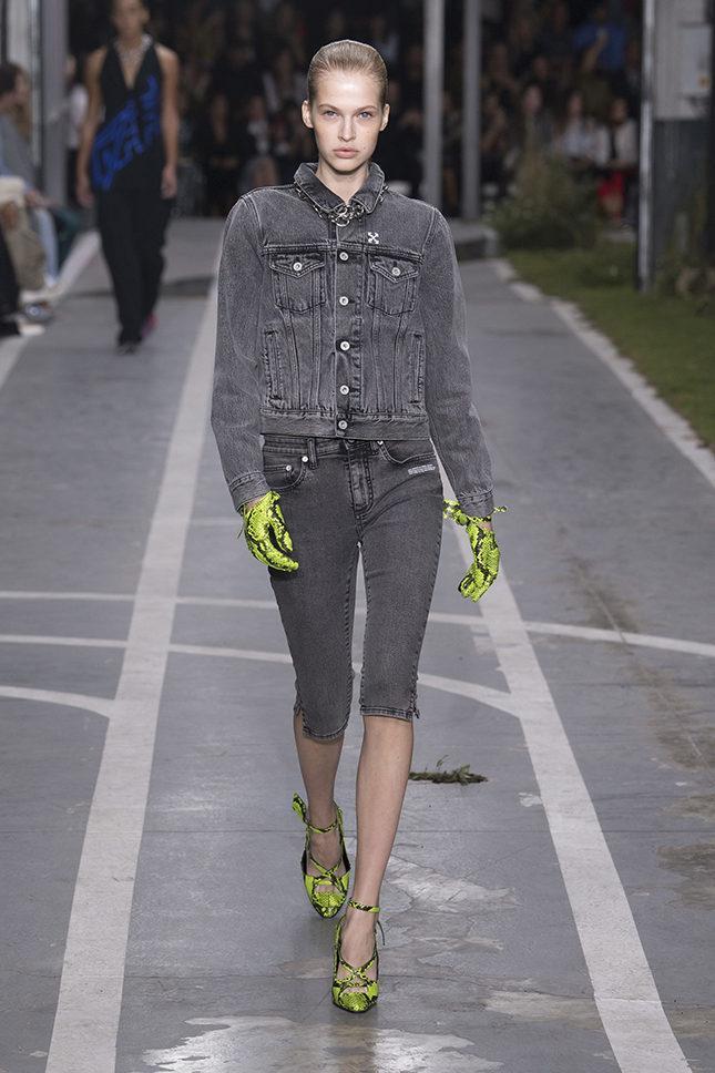 С чем носить джинсы велосипедки