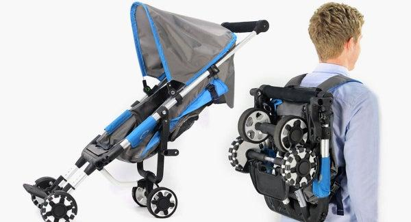 Omnio Is A Full-Sized Stroller That Folds Into A Backpack