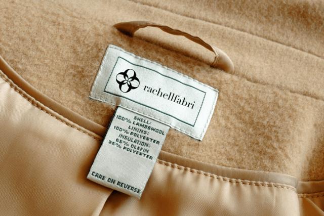 Бирка кашемирового пальто
