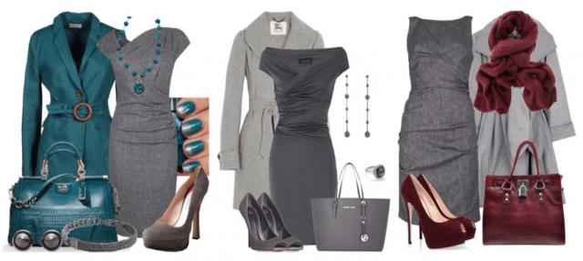 Платья всех оттенков серого