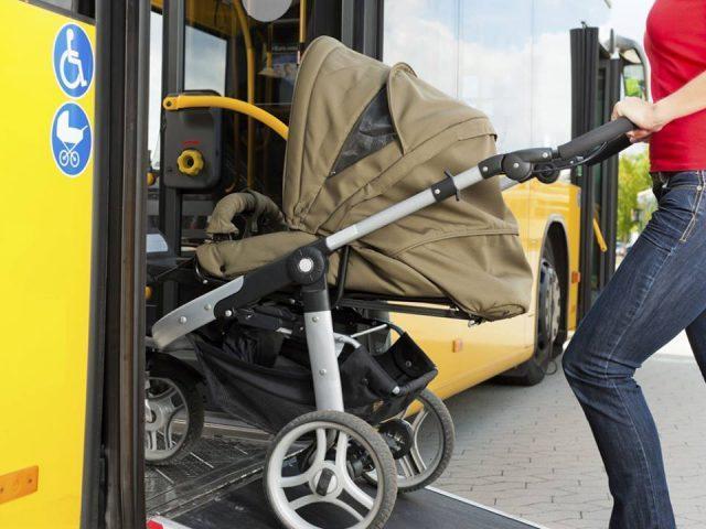 Коляска для ребенка в общественном транспорте - надо ли платить