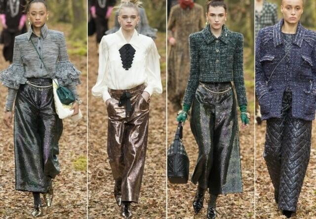 Кожаные брюки Chanel