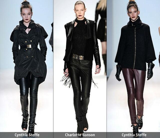 С чем и как носить женские кожаные брюки этой осенью и зимой - модные тренды