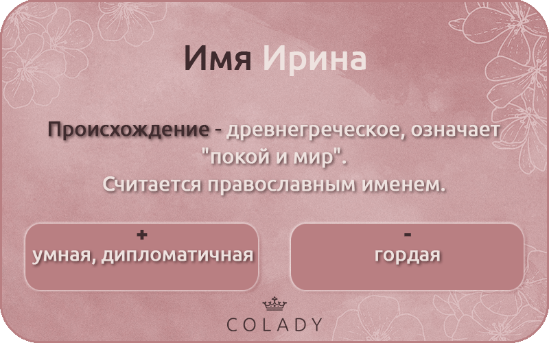 Ирина имя