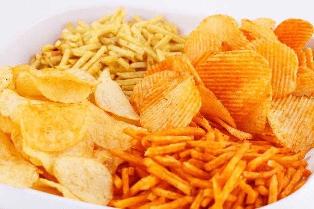 Чипсы, картошка фри