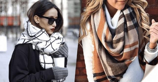Красиво завязать шарф на пальто