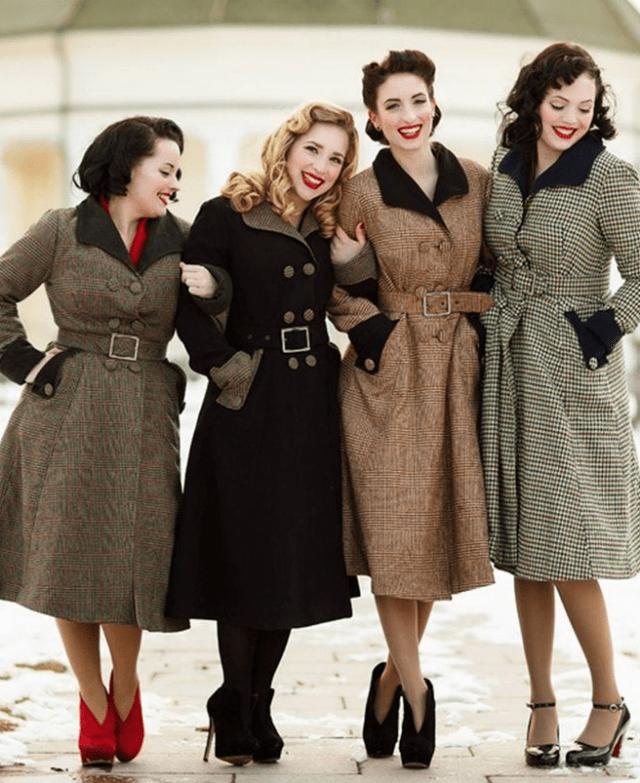 Пальто в 1940 годы