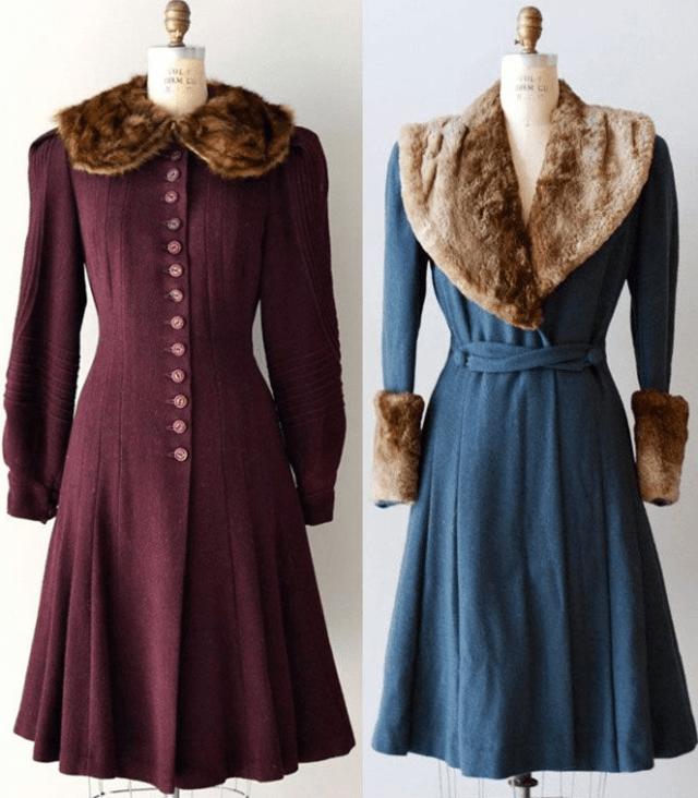 Пальто в 1940 годы1