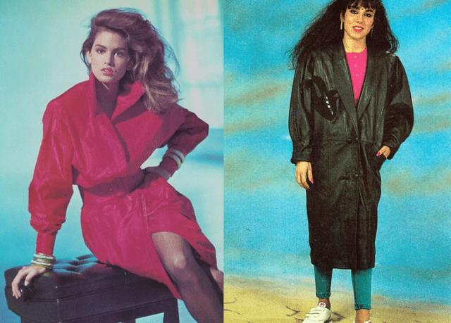 Пальто в 1990 года