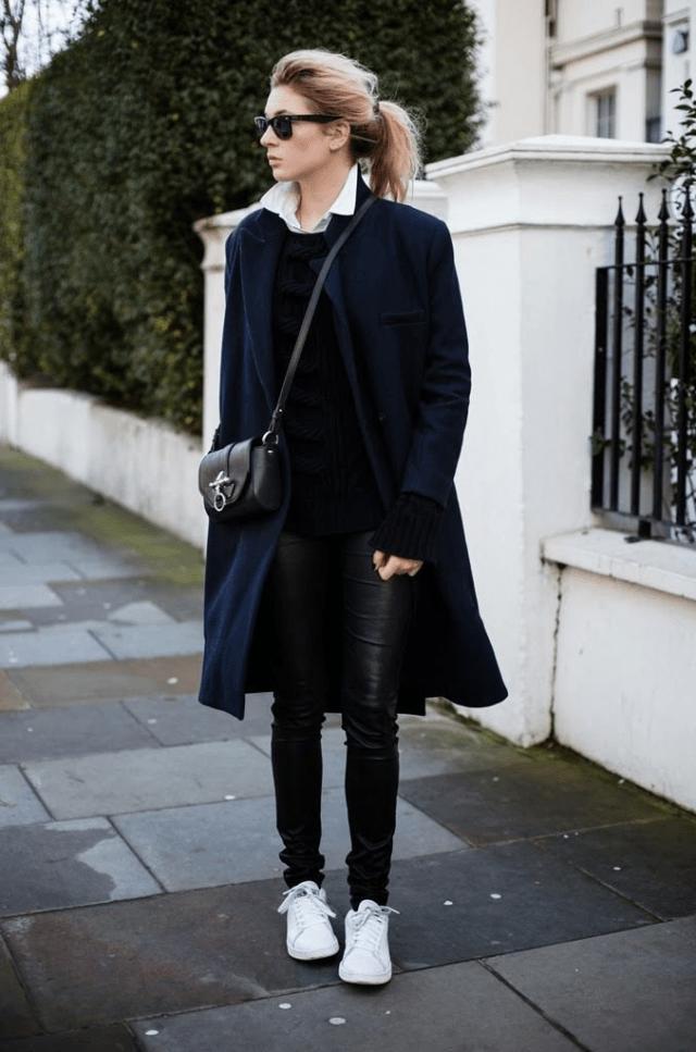 Аксессуары к классическому черному пальто12