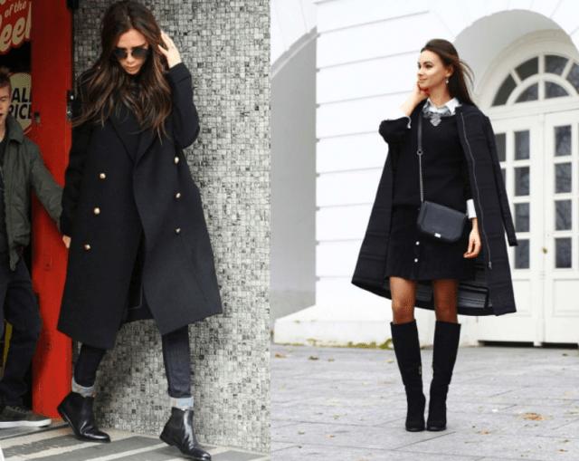 Аксессуары к классическому черному пальто13